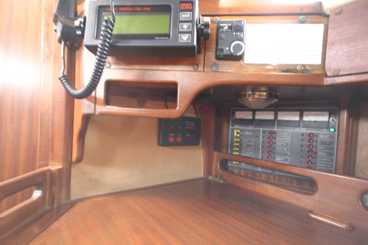 Bruce Roberts 34 Sailing Yachtfor sale Nav station detail -