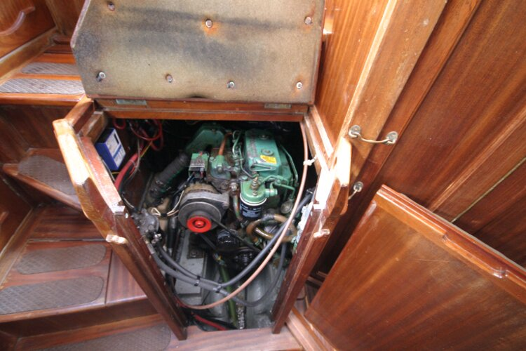 Bruce Roberts 34 Sailing Yachtfor sale Engine Under Companionway Steps -