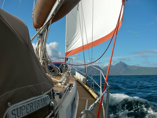 Bruce Roberts 34 Sailing Yachtfor sale Owner's Picture, Under Way -