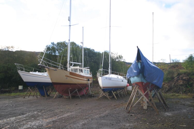 Boat Yard Winter Storagefor sale On the Hard in the Boatyard -