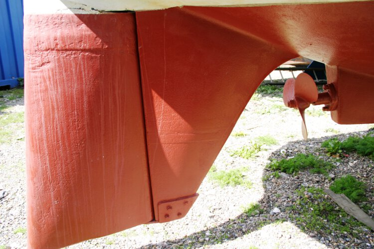 Colvic 26for sale The skeg and rudder - Very strongly constructed
