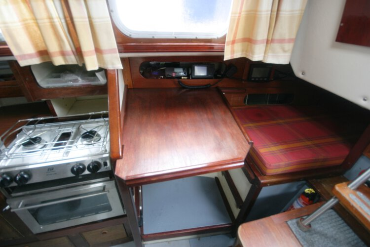 Morgan Giles for sale The chart table - Situated on the starboard side of the saloon