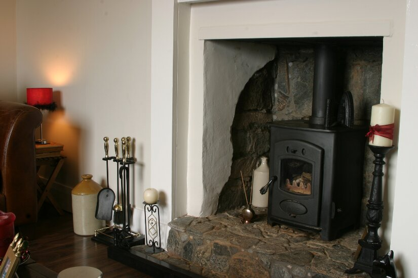 Western Isles Property -  House on the Isle of Lewisfor sale Aarrow Multifuel Stove -