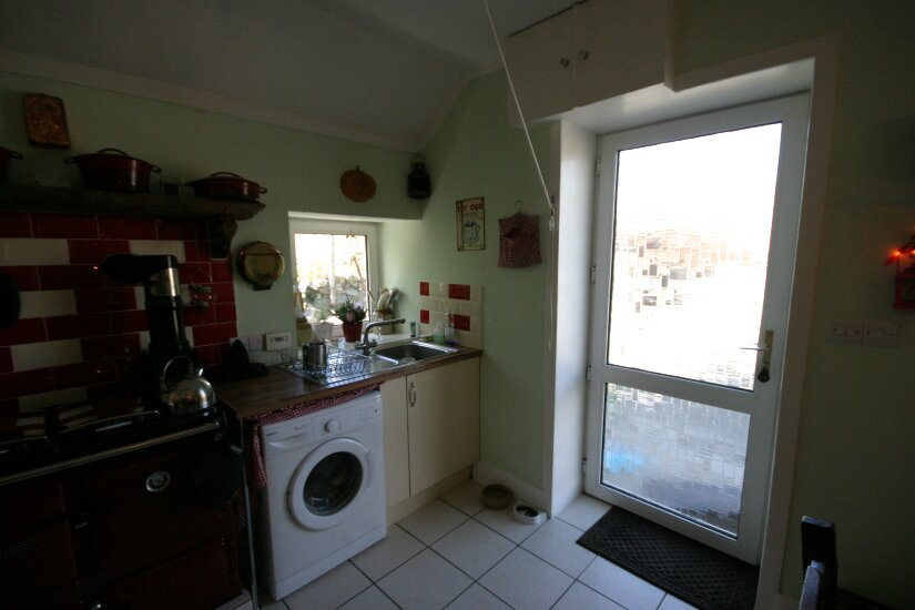 Western Isles Property -  House on the Isle of Lewisfor sale Main Entrance into Kitchen -