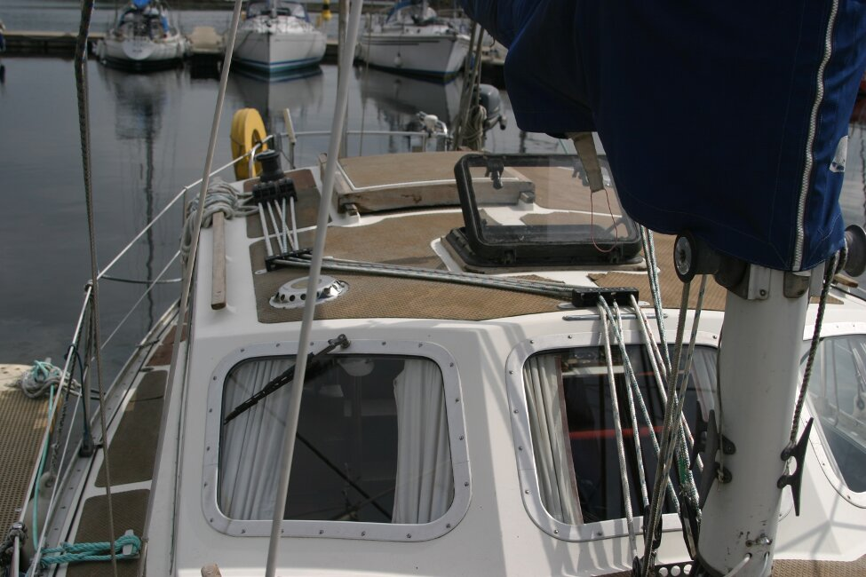 Trident Voyager 35for sale Starboard side looking back -