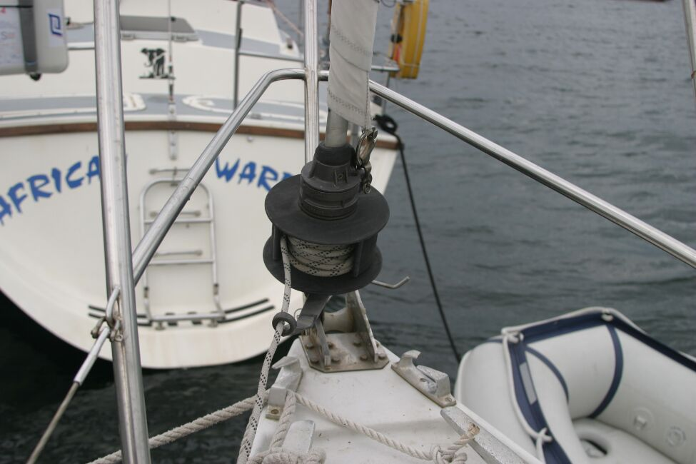 Sadler 29for sale Pulpit and reefing gear -