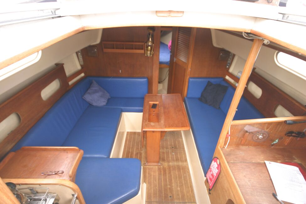 Sadler 29for sale Looking into the companionway entrance -