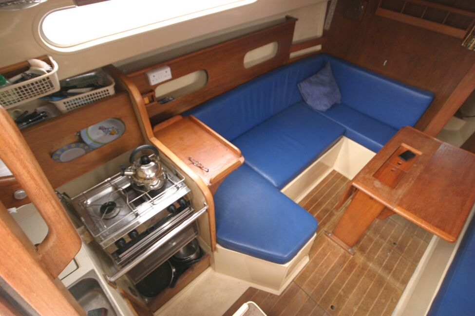 Sadler 29for sale Looking into the companionway entrance - Port