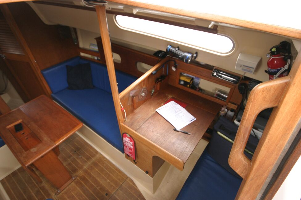 Sadler 29for sale Looking into the companionway entrance - Starboard