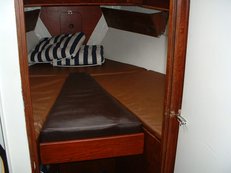 Twister 28for sale New V berth infill - Owner's photo