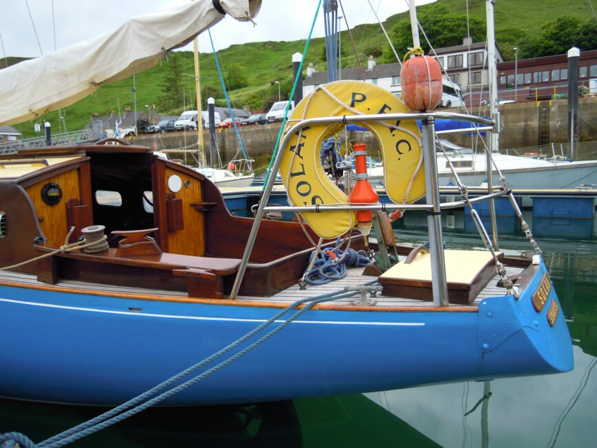 Wooden Classic 29 foot Bermudan Sloopfor sale Port Aft - Owner's photo