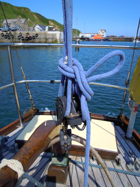 Wooden Classic 29 foot Bermudan Sloopfor sale Mainsheet - Owner's photo