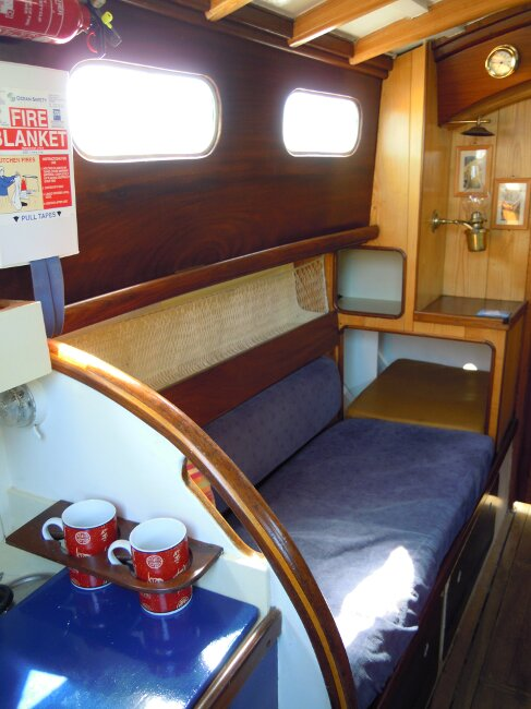 Wooden Classic 29 foot Bermudan Sloopfor sale Port side berthOwner's photo -