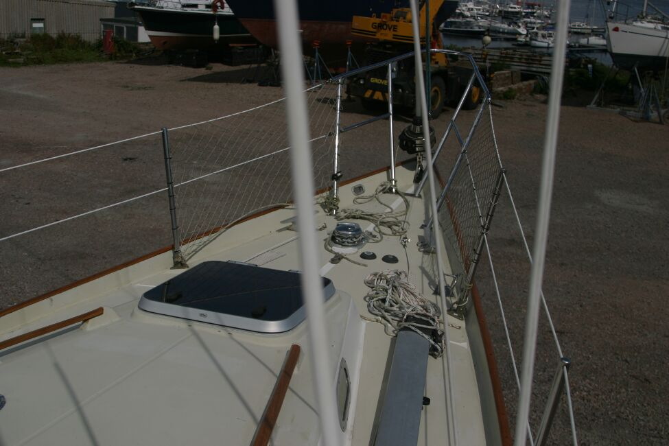 Contessa 32for sale Coachroof and foredeck - From Starboard side