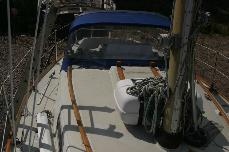 Contessa 32for sale Looking aft, starboard side -