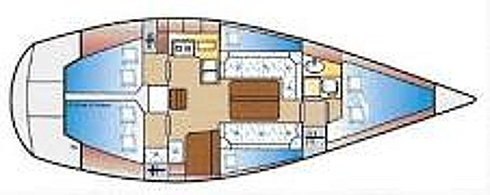 Jeanneau SunShine Regatta 38for sale Plan Drawing -