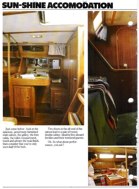 Jeanneau SunShine Regatta 38for sale Manufacturer's Brochure - Page 2