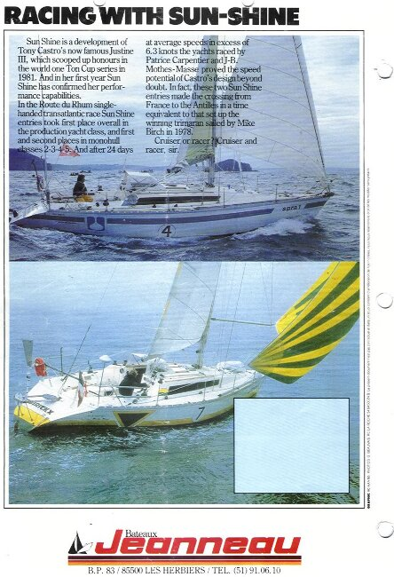Jeanneau SunShine Regatta 38for sale Manufacturer's Brochure - Page 5