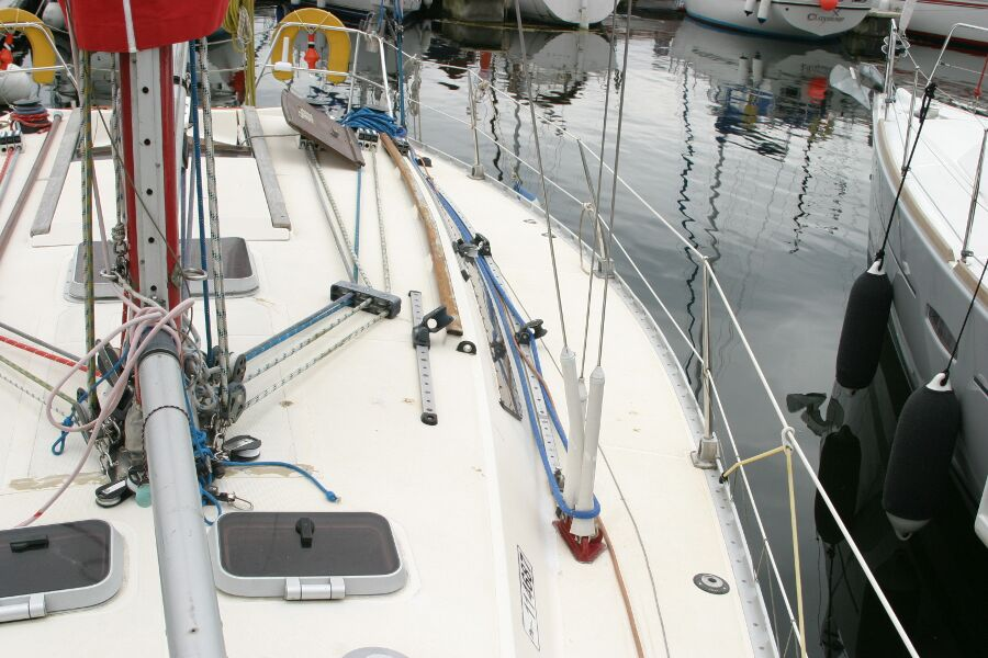 Jeanneau SunShine Regatta 38for sale Port Side Looking Back -