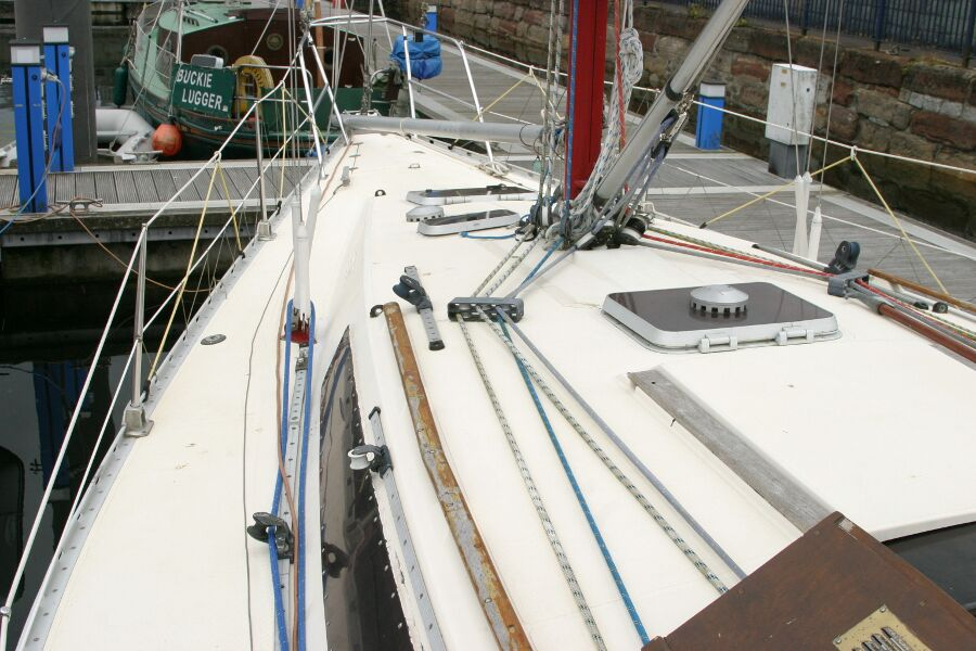 Jeanneau SunShine Regatta 38for sale Port Side Looking Forward -
