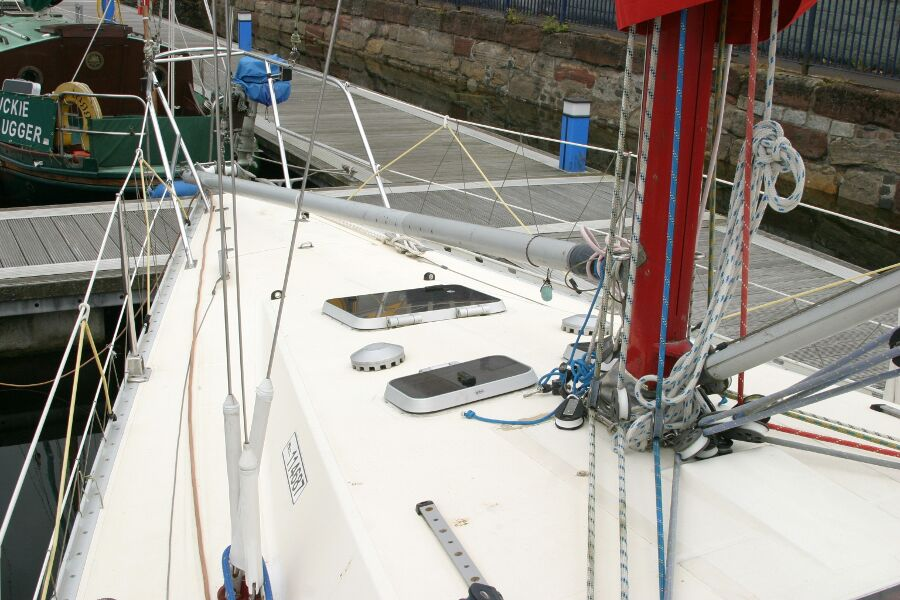 Jeanneau SunShine Regatta 38for sale Foredeck from Port Side -