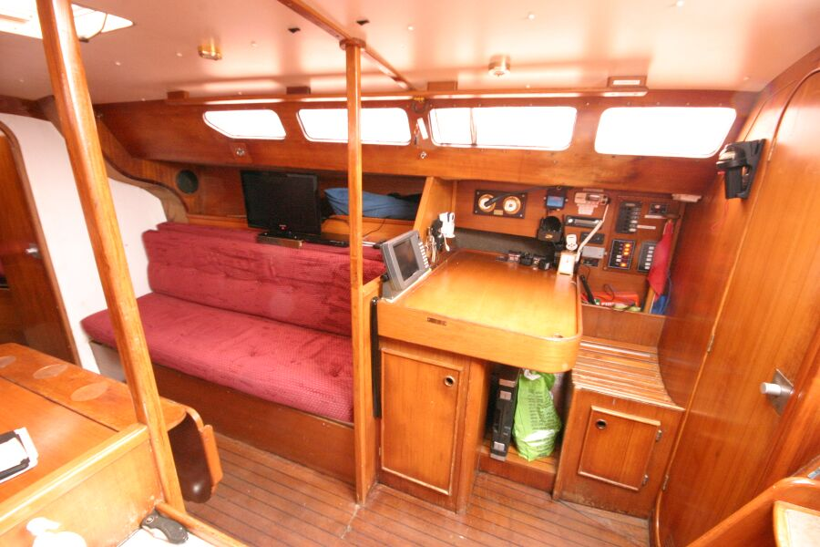 Jeanneau SunShine Regatta 38for sale Navigation Station and Starboard Sofa Berth -