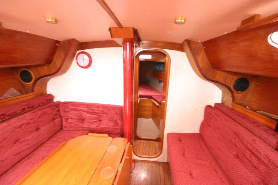 Jeanneau SunShine Regatta 38for sale Looking towards the forward cabin -
