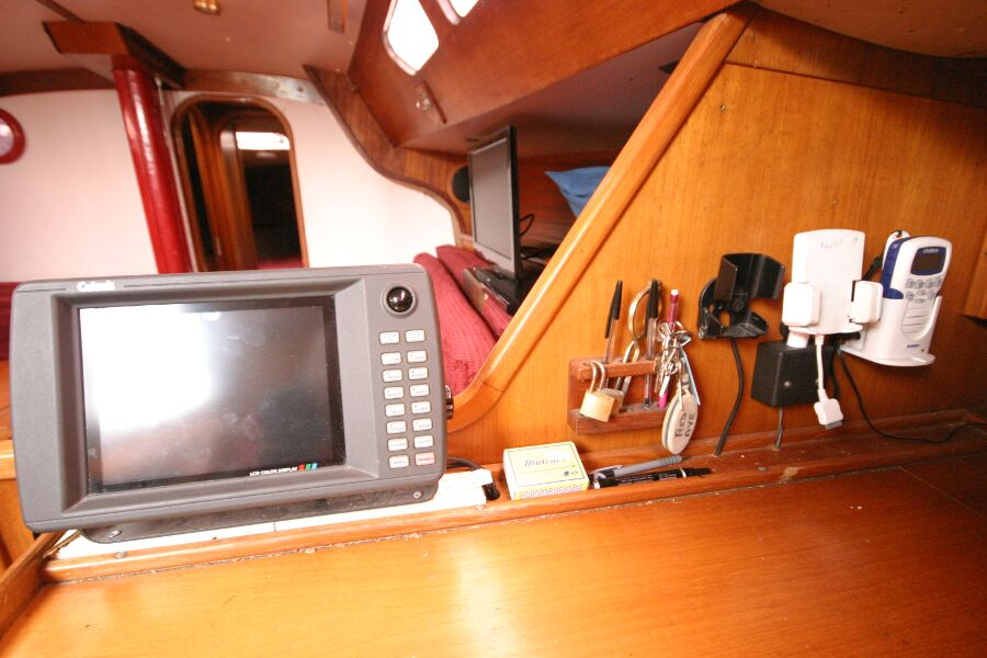 Jeanneau SunShine Regatta 38for sale Navigation station - looking forward