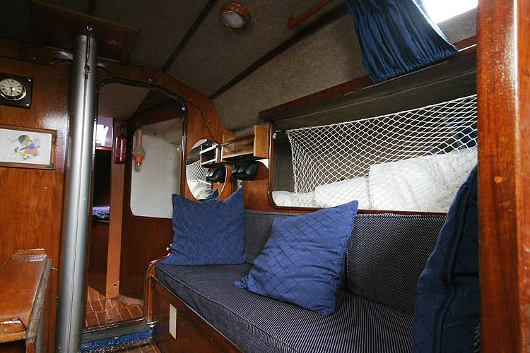 Bolero 35for sale The starboard side settee berth -