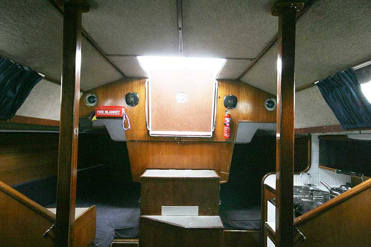 Bolero 35for sale The saloon looking aft -