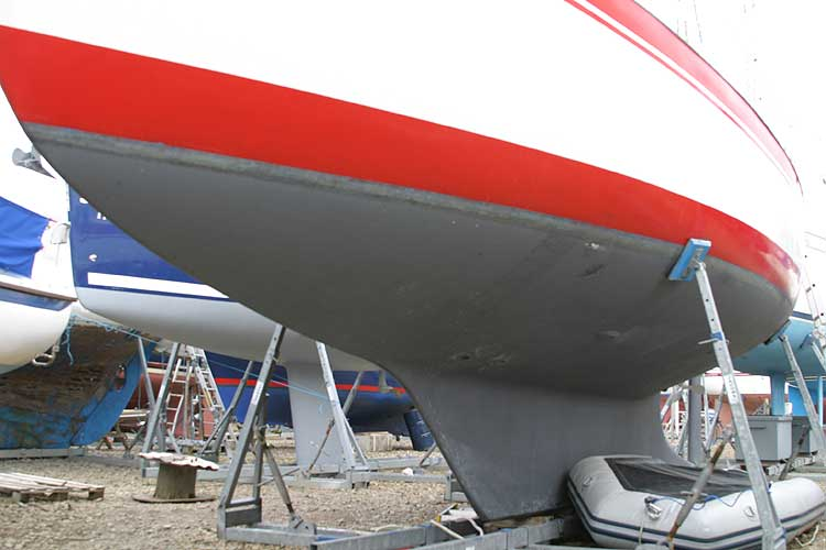 Vancouver 32for sale Hull below the waterline -