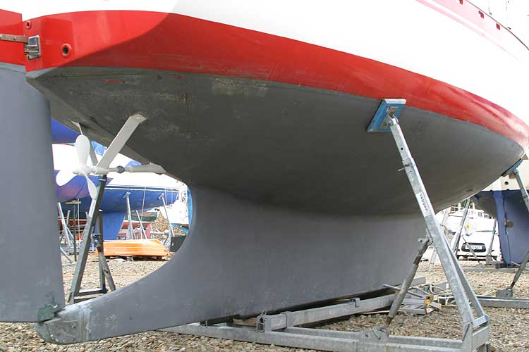 Vancouver 32for sale Hull below the waterline, aft -