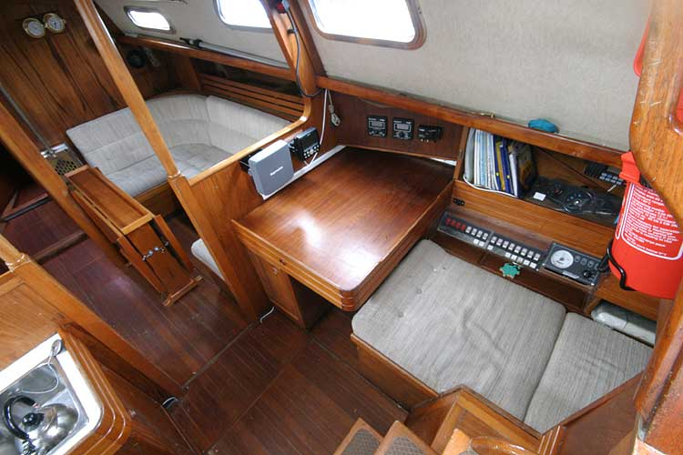 Vancouver 32for sale View to starboard through the companionway -