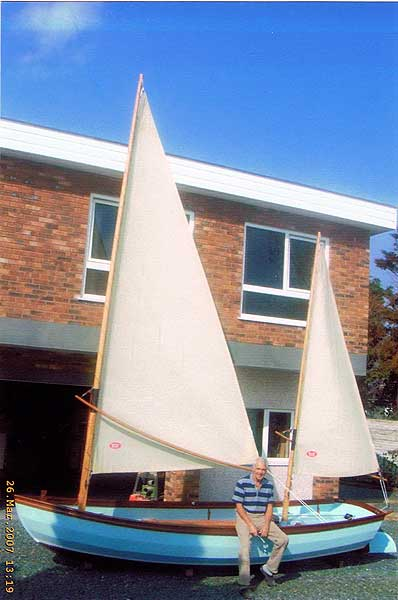 Swampscot Dory not Drascombefor sale Out of the water - With the sails hoisted