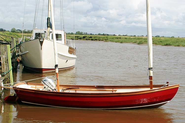 Swampscot Dory not Drascombefor sale The boat on her berth -
