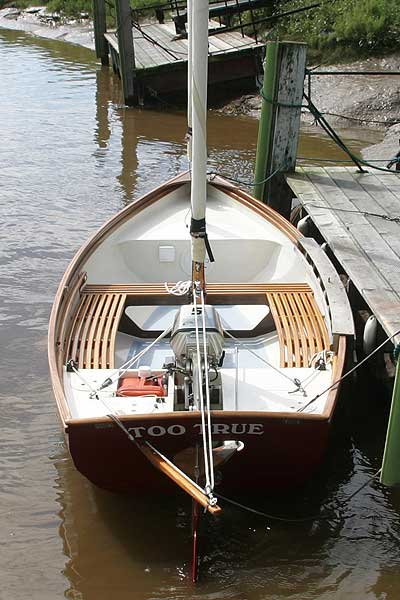 Swampscot Dory not Drascombefor sale Seen from astern -