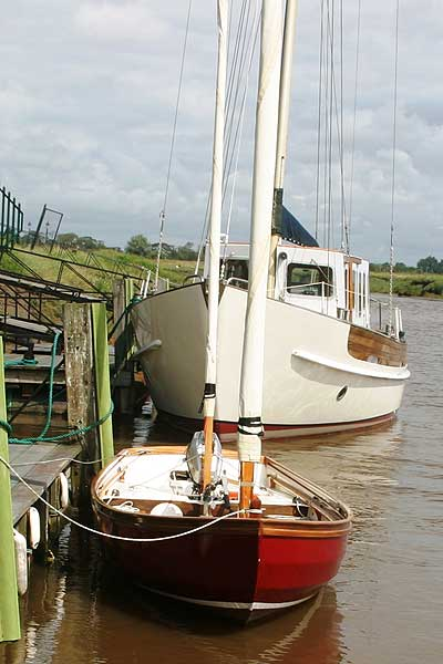 Swampscot Dory not Drascombefor sale As seen from ahead -