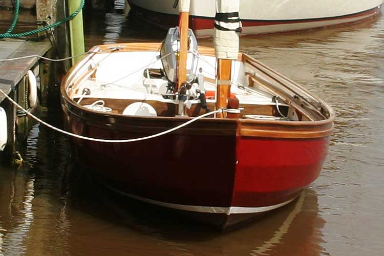 Swampscot Dory not Drascombefor sale View of the bow -