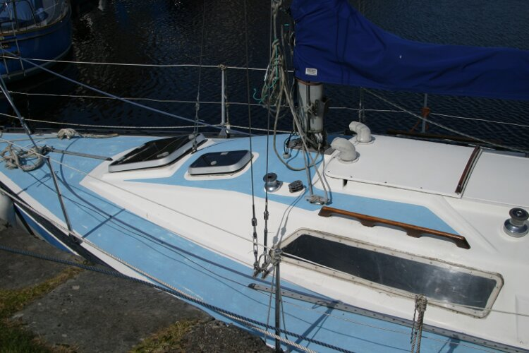 Colvic UFO 27for sale Coachroof and Foredeck, another view -