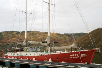 Unique 70 foot Steel Staysail Schooner for sale